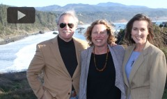 From left: Oregon Governor John Kitzhaber, filmmaker Karen Meyer and First Lady Cylvia Hayes in Port Orford, Oregon, for Ocean Frontiers premiere.